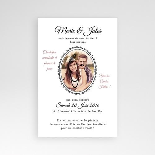 Hochzeitskarten Querformat - Die Goldenen Zwanziger 39740
