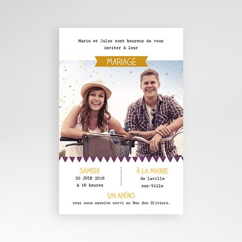 Hochzeitskarten Querformat - Farbspiel  39748
