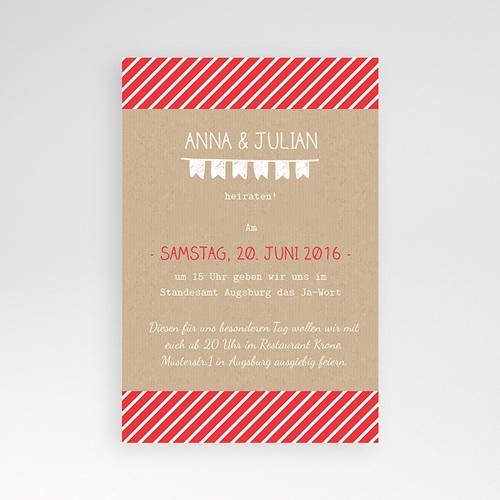 Hochzeitskarten Querformat - Gestreift 39756