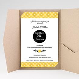 Hochzeitskarten Querformat - Yellow ! - 0