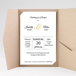 Hochzeitskarten Querformat - Typographie - 0