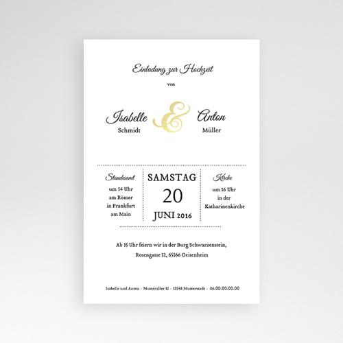 Hochzeitskarten Querformat - Typographie 39788