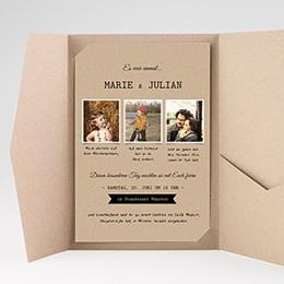 Hochzeitskarten Querformat - Liebesglück - 0