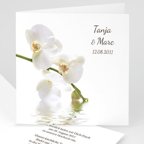Hochzeitseinladungen modern - Orchideen 1063