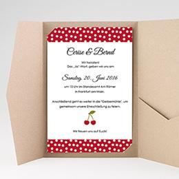 Hochzeitskarten Querformat - Rote Kirschen - 0