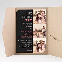 Hochzeitskarten Querformat - Puristisch - 0