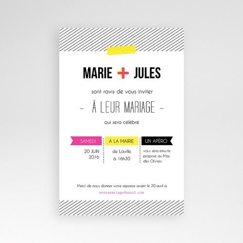 Hochzeitskarten Querformat - Neon Gelb 39828