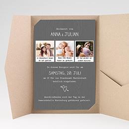 Hochzeitskarten Querformat - Fotoroman - 0