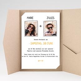 Hochzeitskarten Querformat - Love - 0