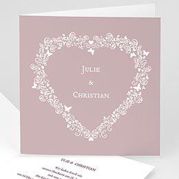 Hochzeitseinladungen modern - Hochzeitskarte Herz - 1