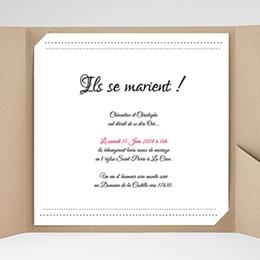 Hochzeitskarten Quadratisch - Eleganz - 0