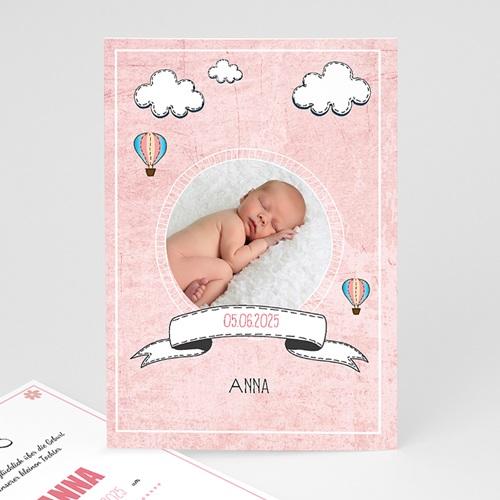 Geburtskarten für Mädchen - Wolken  40337