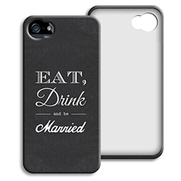Case iPhone 5/5S - Eat, Drink and be Married - 0