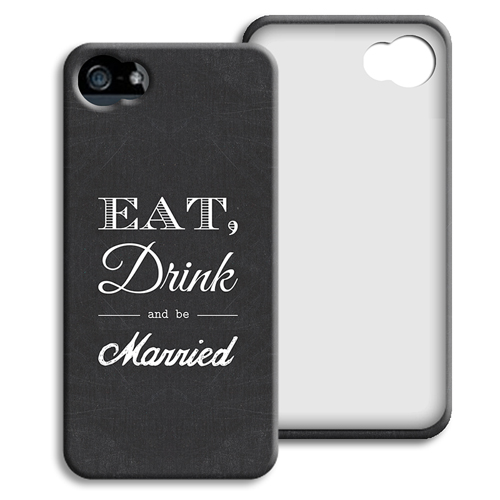 Case iPhone 5/5S - Eat, Drink and be Married 40414