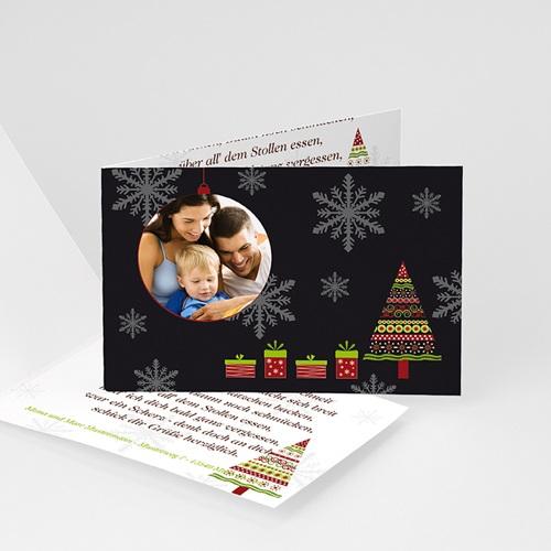Weihnachtskarten - Schneeflocken 4046