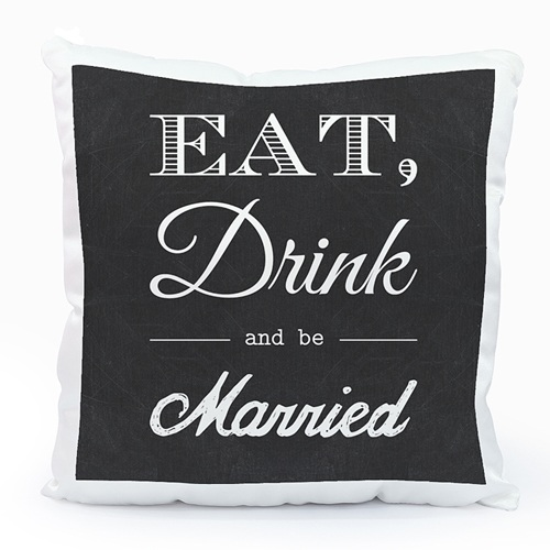 Fotokissen - Eat, Drink and be Married 40480