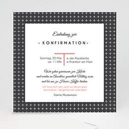 Einladungskarten Konfirmation - Kreuzmotiv - 0