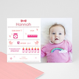 Geburtskarten für Mädchen - Illustriert & modern - 0
