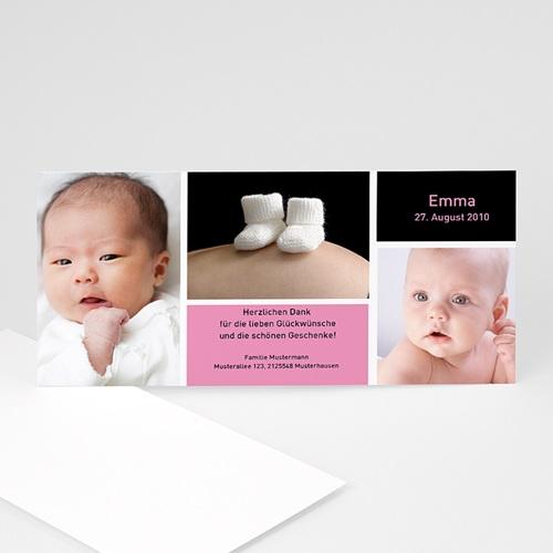 Geburtskarten für Mädchen -  Geburtskarte schlicht 3 4062