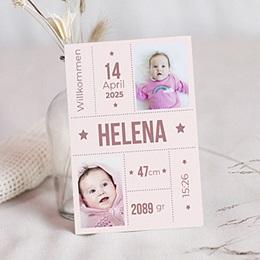 Geburtskarten für Mädchen - Sternenschnuppe - 0