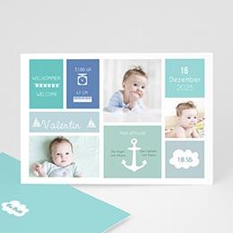 Babykarten für Jungen - Kleiner Anker - 0