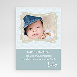 Dankeskarten Taufe Jungen - Taufkarte - 1