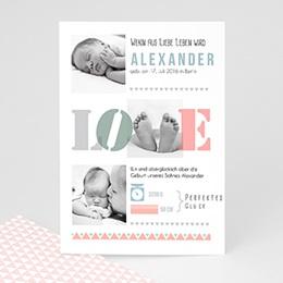 Geburtskarten für Mädchen - LOVE - 0