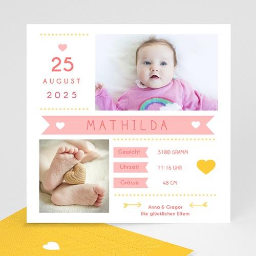 Geburtskarten für Mädchen - Von Herzen 40729