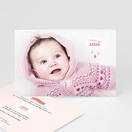 Geburtskarten für Mädchen - Rosa Wolke - 0