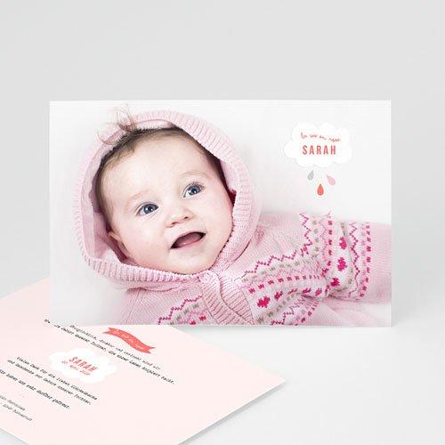 Geburtskarten für Mädchen - Rosa Wolke 40808