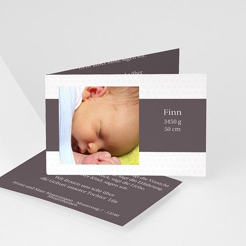 Geburtskarten für Mädchen - Geburtskarte Schlicht und modern 4082