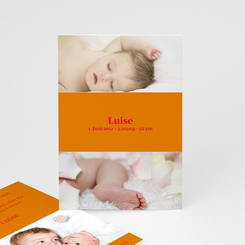 Geburtskarten für Mädchen - Geburtskarte Schlichtes Design 4106