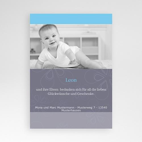 Dankeskarten Geburt Jungen - Dankeskarte Benjamin 4124