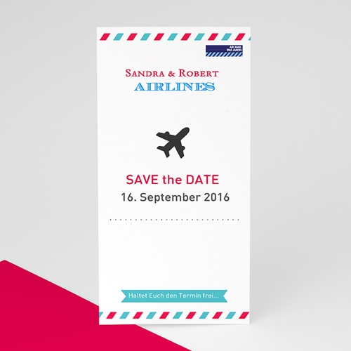 Save The Date  - Airlines 41391