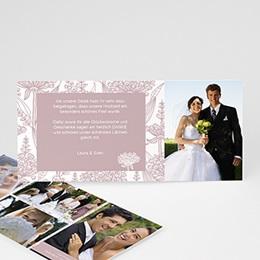Danksagungskarten Hochzeit  - Blütenzauber - 0