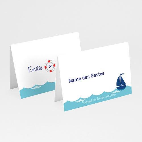 Tischkarten Hochzeit personalisiert - Anker  Carteland.de