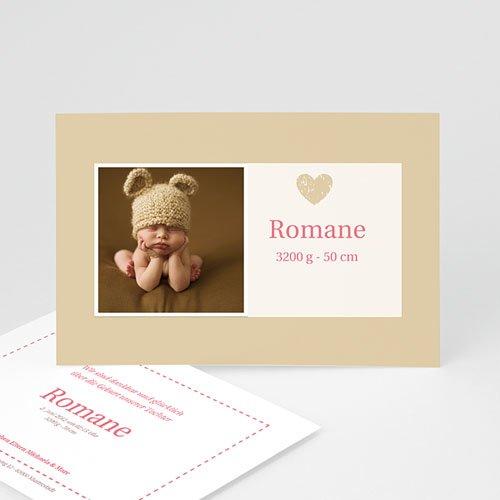 Geburtskarten für Mädchen - Geburtskarte Rosendesign 4162
