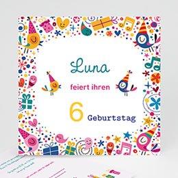 Geburtstagseinladungen Mädchen - Partylaune - 0