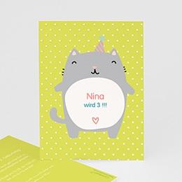 Geburtstagseinladungen Mädchen - Kätzchen - 0