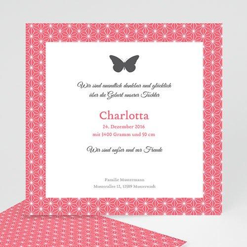 Geburtskarten für Mädchen - Schmetterling 41873