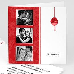 Hochzeitseinladungen modern - Hochzeitskarte - 1