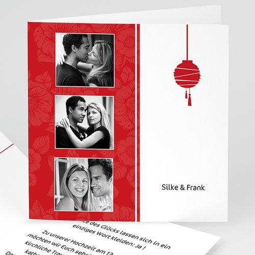 Hochzeitseinladungen modern - Hochzeitskarte Peking 4194