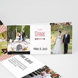 Danksagungskarten Hochzeit  - Liebespfeil - 0