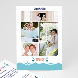 Danksagungskarten Hochzeit  - Anker - 0