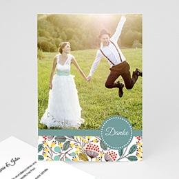 Danksagungskarten Hochzeit  - Frühlingswiese - 0