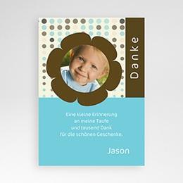 Dankeskarten Taufe Jungen - Taufkarte Fynn - 1