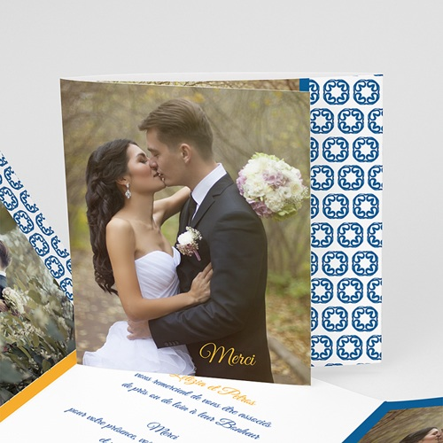 Danksagungskarten Hochzeit - Design Lissabon  Carteland.de