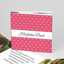 Danksagungskarten Hochzeit  - Himbeerfarben - 0