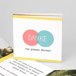 Danksagungskarten Hochzeit  - Pastell - 0