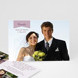 Danksagungskarten Hochzeit  - Violett - 0